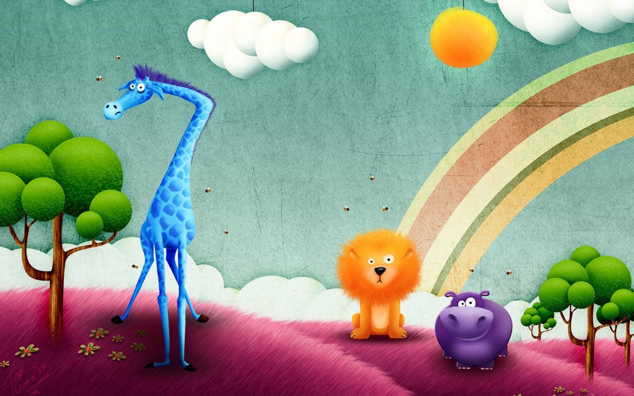 funny_animals_drawing_rainbow_503_1280x800