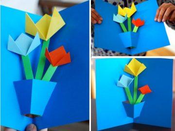 Ծաղիկներով բացիկ