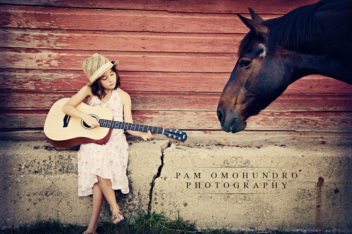 PamOmohundro_GirlGuitarAndHorse